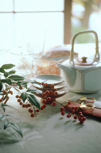 正月のテーブルセットの写真素材 [FYI03947588]