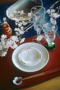 春のテーブルセットの写真素材 [FYI03947593]