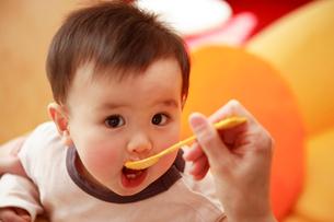食事中の赤ちゃんの写真素材 [FYI03947920]