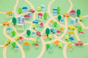 住宅地の街並み俯瞰の写真素材 [FYI03948193]