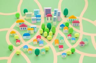 住宅地の街並み俯瞰の写真素材 [FYI03948194]