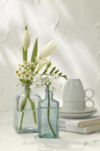 花と食器の写真素材 [FYI03949342]