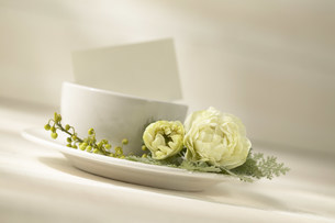 花と食器の写真素材 [FYI03949345]