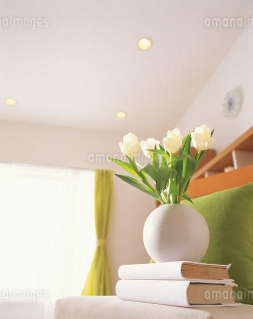 花のあるリビングの写真素材 [FYI03952048]