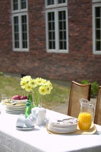 庭のテーブルの写真素材 [FYI03952380]