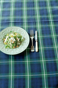 皿に盛られたサラダの写真素材 [FYI03954293]