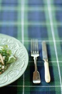 皿に盛られたサラダの写真素材 [FYI03954294]
