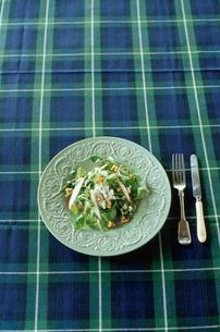 皿に盛られたサラダの写真素材 [FYI03954295]