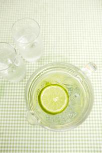 ピッチャーとグラスに入った水の写真素材 [FYI03955676]