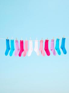 カラフルな靴下の写真素材 [FYI03955872]