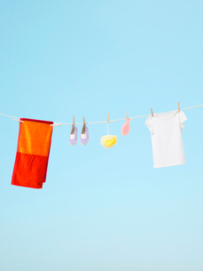 干された洗濯物の写真素材 [FYI03955873]