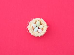 カラフルなバックと卵の写真素材 [FYI03955942]