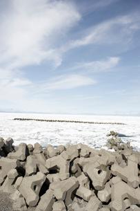 野付半島の流氷の写真素材 [FYI03955984]