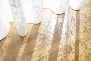 レースカーテンと影の写真素材 [FYI03955993]