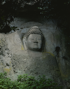 熊野磨崖仏大日如来像 大分県の写真素材 [FYI03956611]