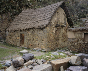 石造りの家 マチュピチュの写真素材 [FYI03956976]