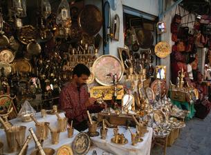 旧市街の土産店の写真素材 [FYI03957281]