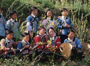 ハニ族の女性達の写真素材 [FYI03957485]