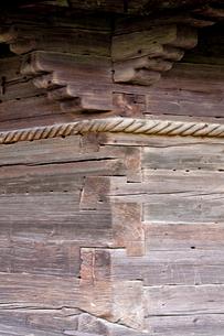 聖ニコラス教会の外壁井桁部分の写真素材 [FYI03957816]