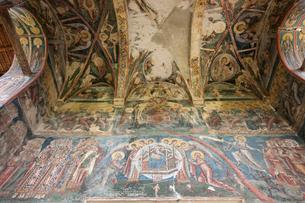 モルドヴィツァ修道院のフレスコ画の写真素材 [FYI03957822]