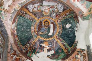 スチェヴィツァ修道院のフレスコ画の写真素材 [FYI03957830]
