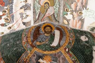 スチェヴィツァ修道院のフレスコ画の写真素材 [FYI03957835]