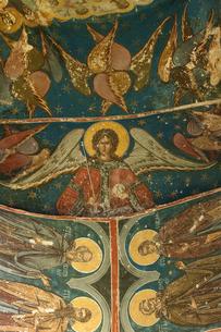 フモール修道院のフレスコ画の写真素材 [FYI03957844]