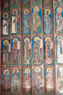 ヴォロネツ修道院のフレスコ画の写真素材 [FYI03957853]