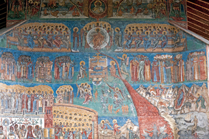 ヴォロネツ修道院のフレスコ画の写真素材 [FYI03957854]