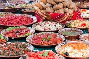 ブルガリアの料理の写真素材 [FYI03957876]