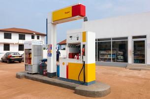 ガソリンスタンドの写真素材 [FYI03958619]