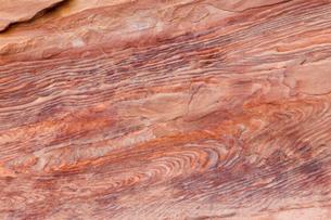 ペトラ遺跡 砂岩の文様 世界遺産の写真素材 [FYI03958707]