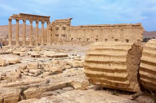 パルミラ遺跡 世界遺産 ベル神殿の写真素材 [FYI03958755]