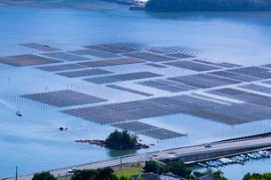 五ケ所湾 海苔の養殖の写真素材 [FYI03958952]