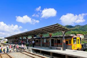 台湾 平渓線十分駅の写真素材 [FYI03959172]