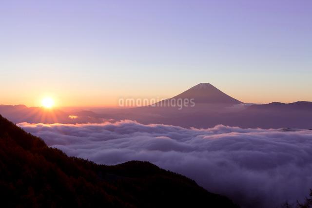 富士山と雲海の写真素材 [FYI03959785]