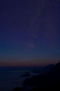 夕日ケ浦,星空の写真素材 [FYI03960071]