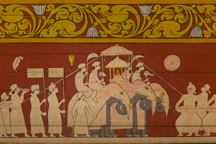 仏歯寺 壁画の写真素材 [FYI03960179]