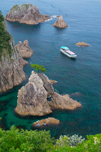 浦富海岸 千貫松島の写真素材 [FYI03960355]