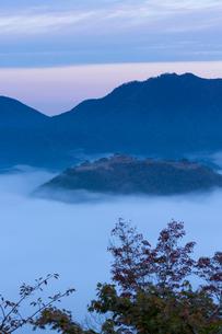 竹田城 雲海の写真素材 [FYI03960376]