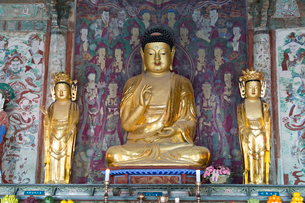 仏国寺 釈迦三尊仏の写真素材 [FYI03960732]