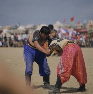 蒙古相撲の写真素材 [FYI03961756]