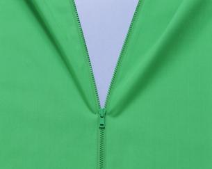 緑のファスナーの写真素材 [FYI03962081]
