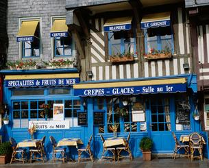 青いカフェの写真素材 [FYI03962779]