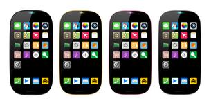 スマートフォン4色アイコンありのイラストのイラスト素材 [FYI03965655]