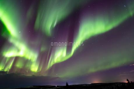 アラスカ フェアバンクスのオーロラの写真素材 [FYI03967533]