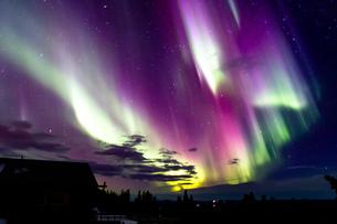 アラスカ フェアバンクスのオーロラの写真素材 [FYI03967547]