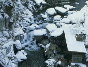 冬の川俣観光ホテルの藤四郎の湯の写真素材 [FYI03969527]