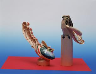 笹野から刀彫 民芸品の写真素材 [FYI03972309]