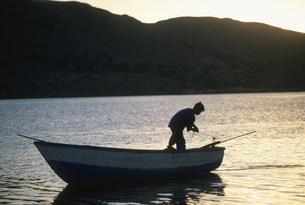 チチカカ湖の写真素材 [FYI03973024]